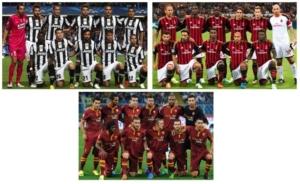 Juventus, Milan y Roma recuperan las formaciones clásicas
