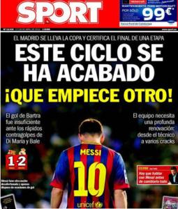 "Portada ""Sport"" 17/04/2014"