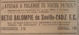 1936 20 de noviembre de (cartel cadiz-betis)