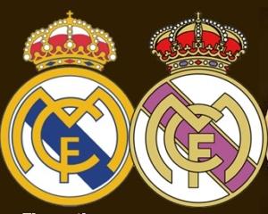 La franja morada del escudo del Real Madrid CF