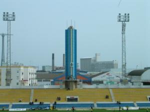 La Torre Olímpica en la grada de Preferencia.