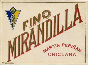 Propaganda de Fino Mirandilla con escudo.
