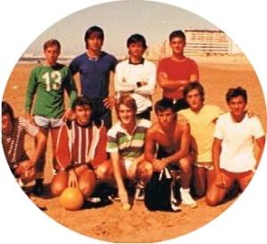 Formación de amigos en Playa de Cádiz