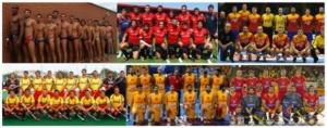 Formaciones clásicas en otros deportes: selección española de waterpolo, rugby, balonmano, hockey hierba, baloncesto y hockey sala