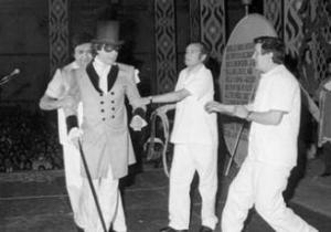 Jesús Quintero en el Pregón del Carnaval de Cádiz de 1984