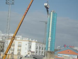 La Torre Olímpica se resistió a desaparecer