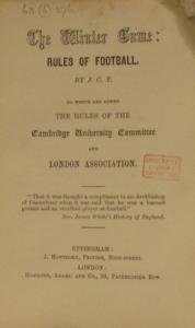 Reglas de Cambridge (1848)
