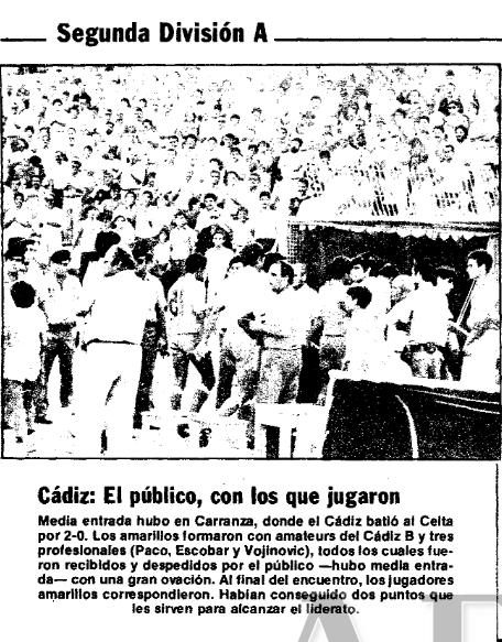 Crónica del partido (ABC, 11 de septiembre de 1984)