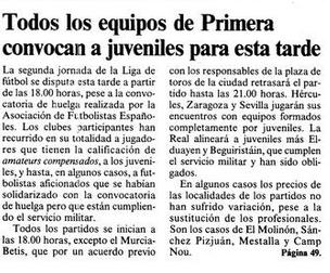 """Noticia en """"El País"""" el 9 de septiembre de 1984."""