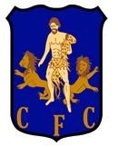Escudo del Cádiz FC en su presentación e Mirandilla.