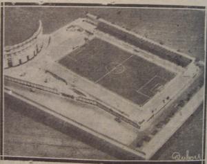 Maqueta del Campo de Deportes Mirandilla.